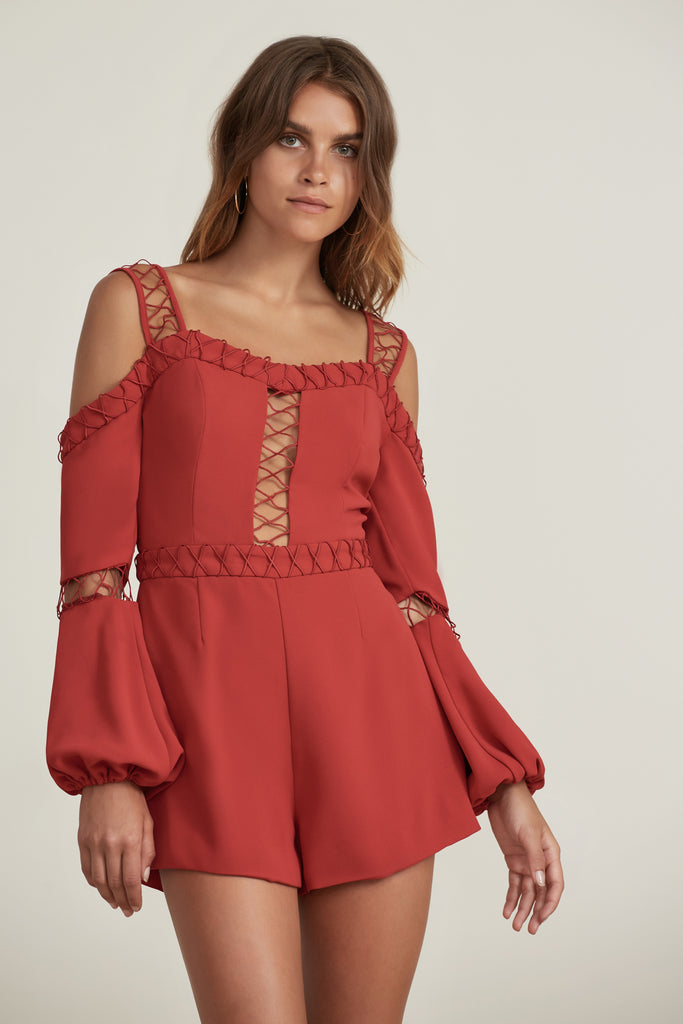 BORDERLINES PLAYSUIT flame