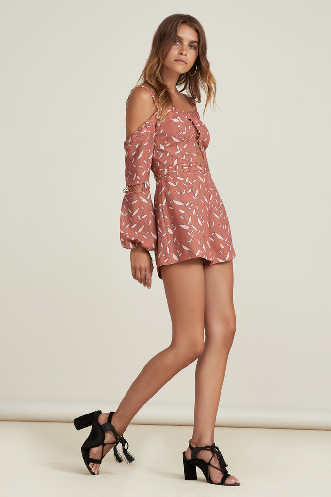 BORDERLINES PLAYSUIT papaya vine