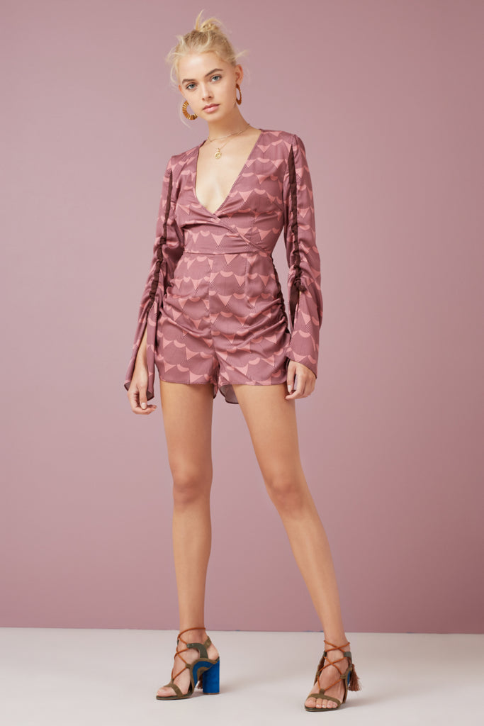 DIRECTION PLAYSUIT plum fan