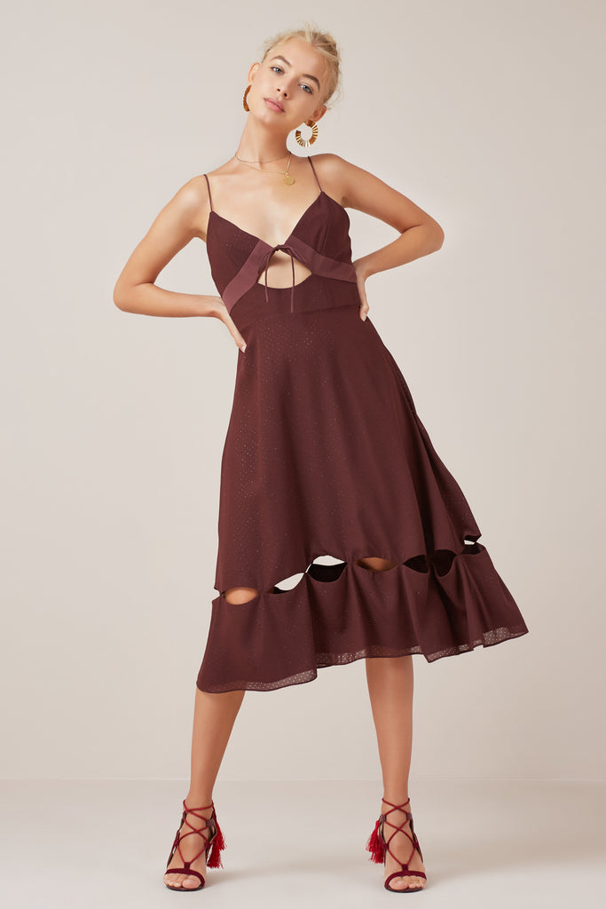 MUSE DRESS plum