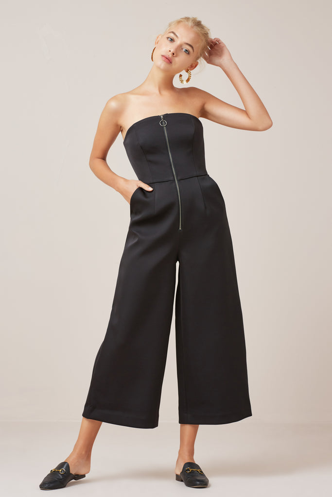 PERMISSION JUMPSUIT black