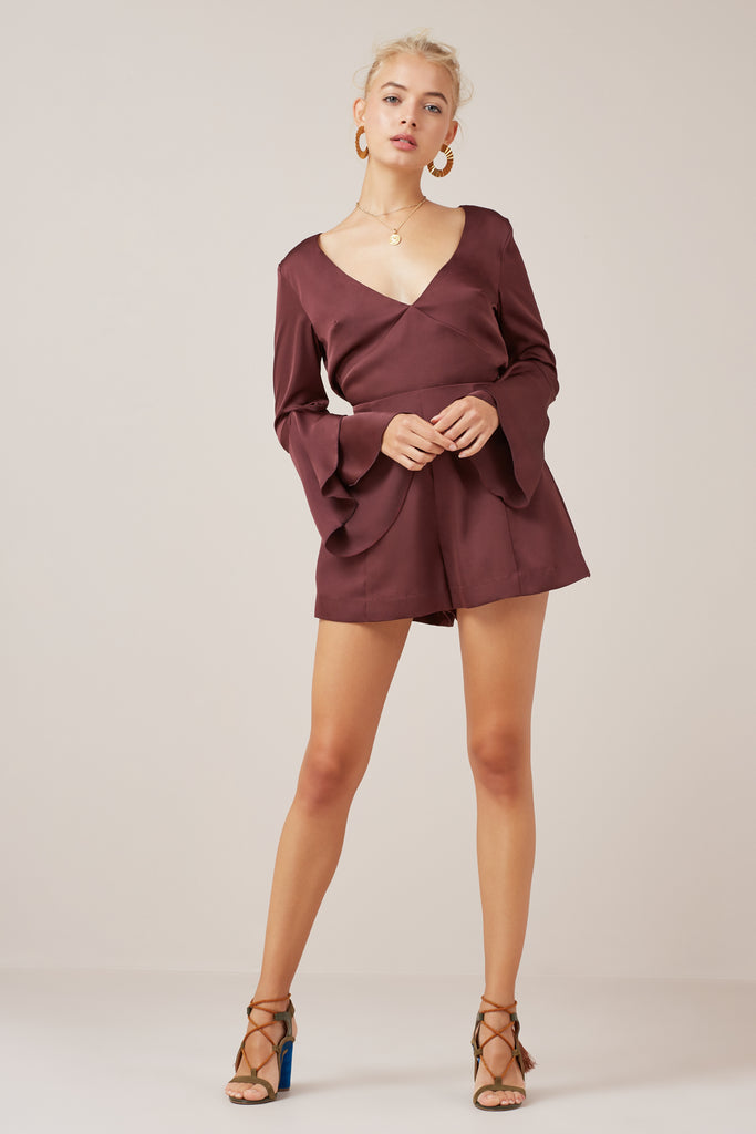 SEASONS PLAYSUIT plum