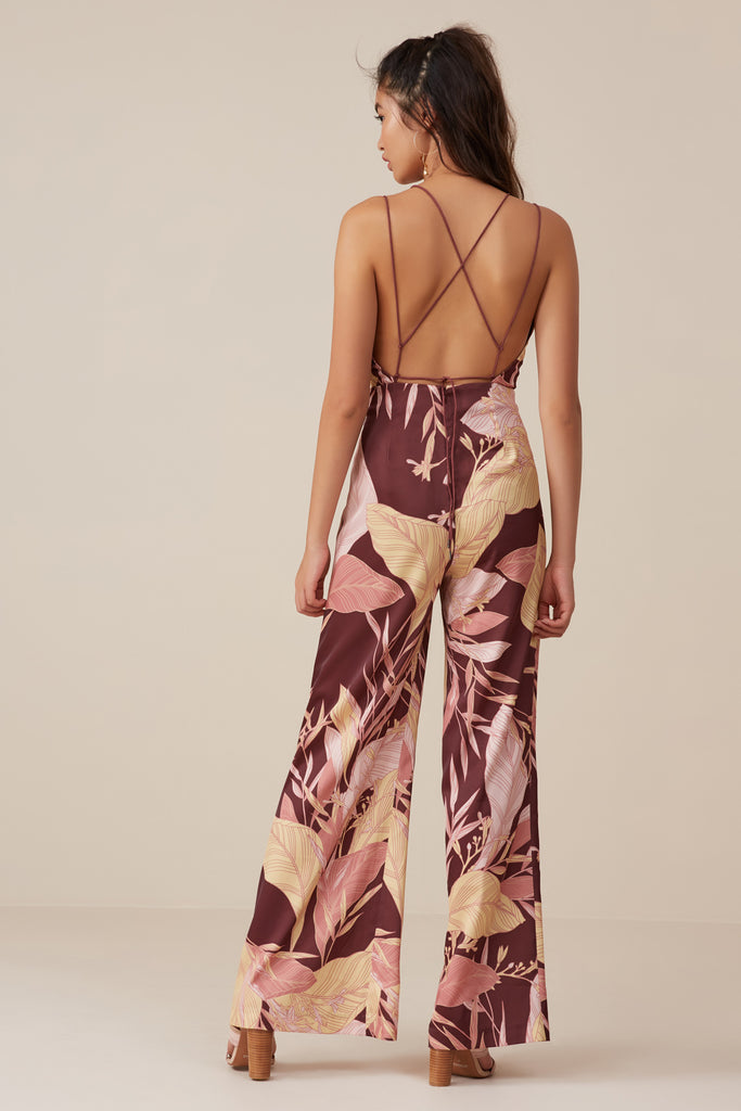 BLOOM JUMPSUIT fig floral