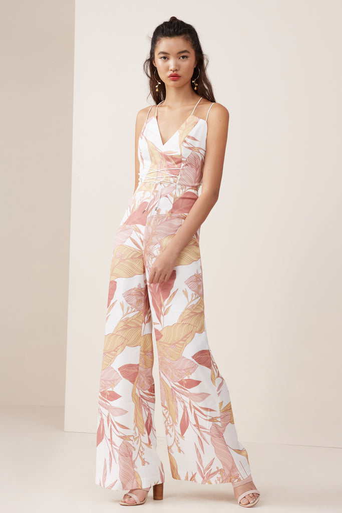 BLOOM JUMPSUIT ivory floral
