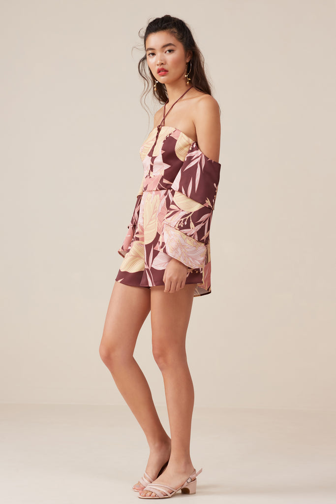 BLOOM PLAYSUIT fig floral