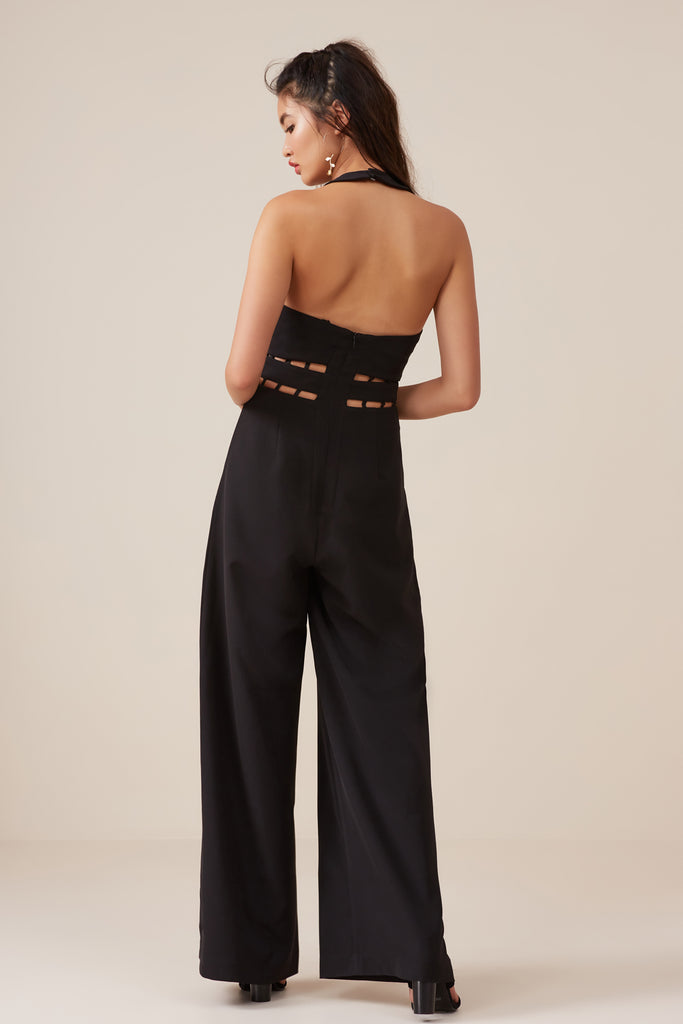 SOLAR JUMPSUIT black
