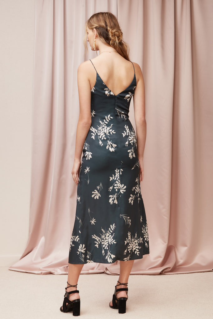 AFTERGLOW DRESS forest floral