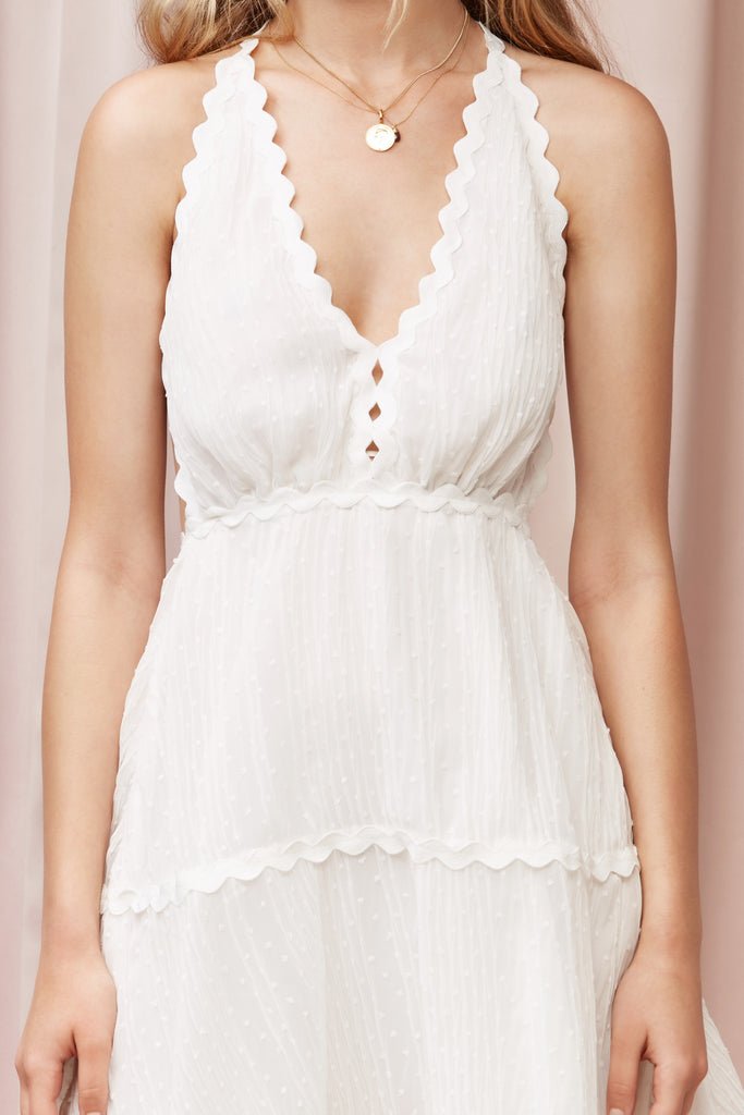 DRIFT MINI DRESS ivory spot