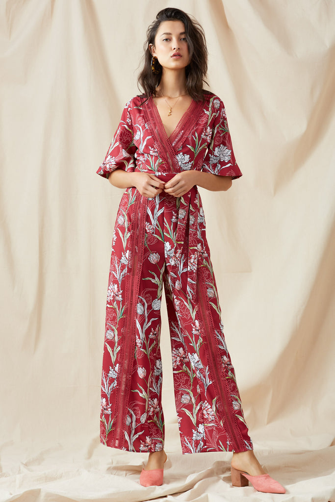 ROTATION WRAP TOP fig floral