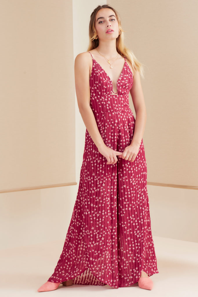 TWILIGHT JUMPSUIT cherry star