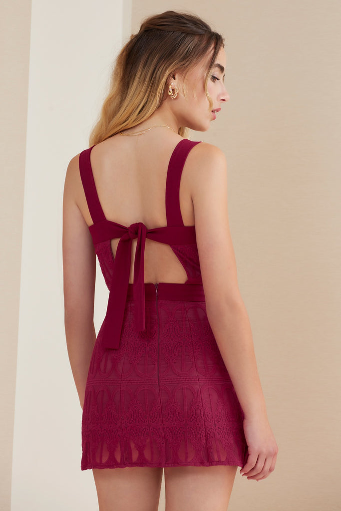 AWAKE MINI DRESS cherry