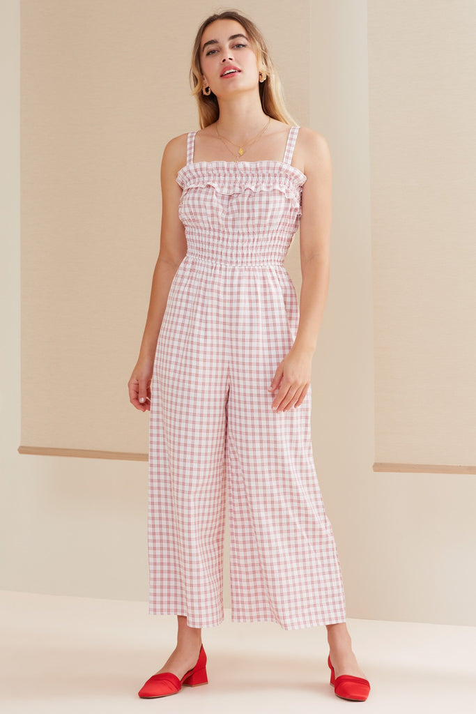 MERCI JUMPSUIT cherry check