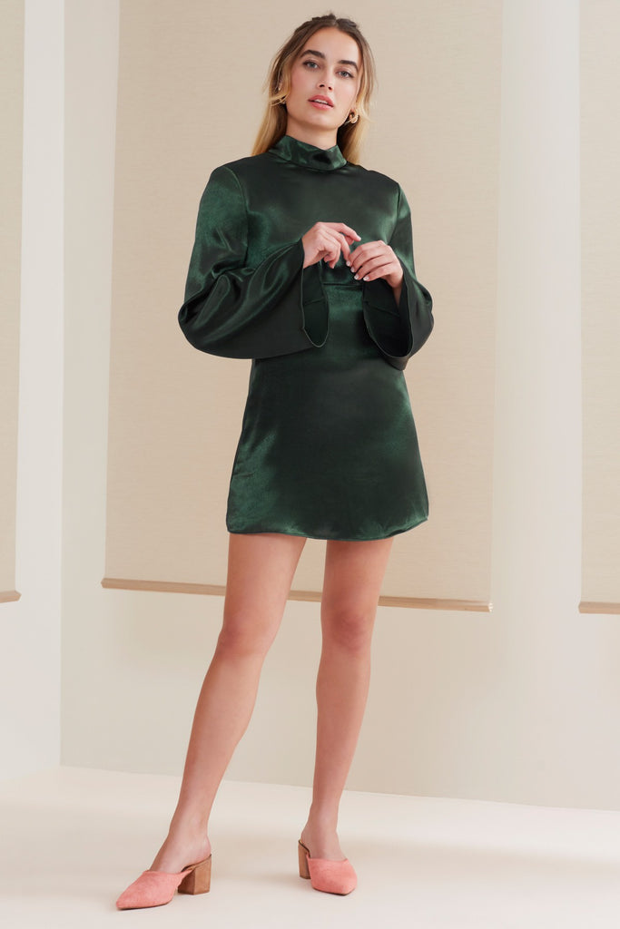 SONGBIRD LONG SLEEVE DRESS forest