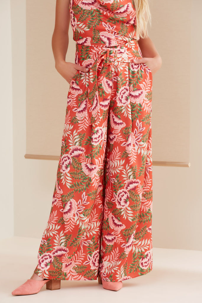 SONGBIRD PANT bronze floral