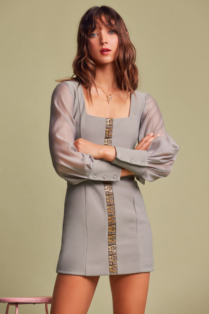 ADVANCE LONG SLEEVE DRESS sage