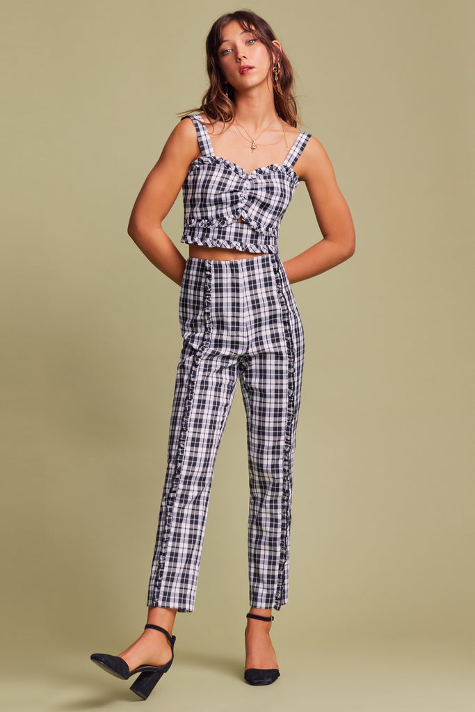 DOWNTOWN PANT black tartan