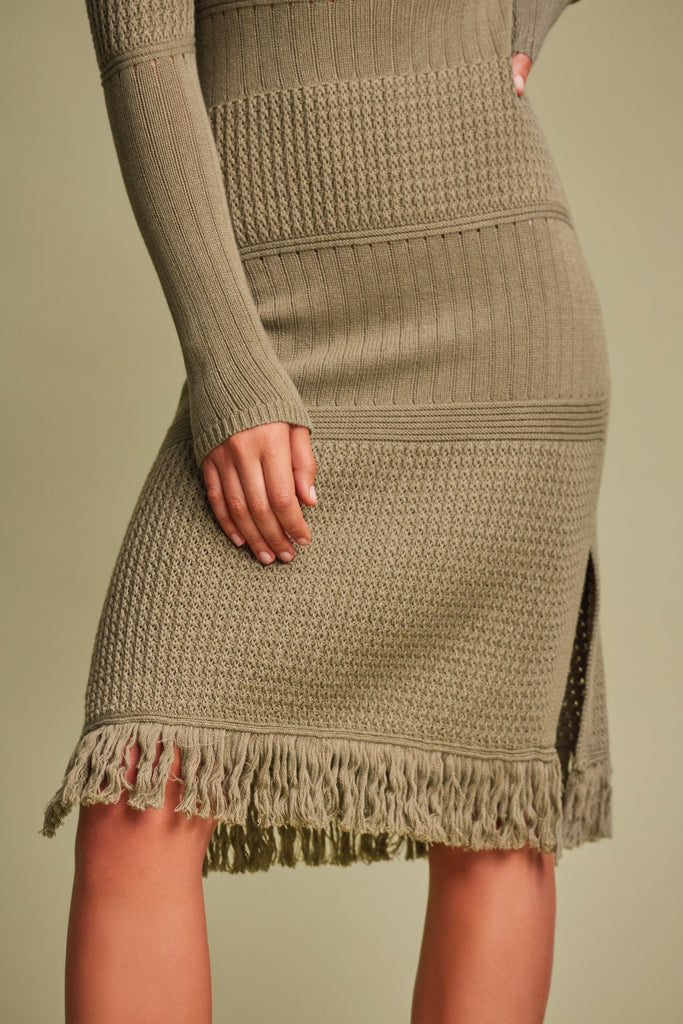 GRAVITATE KNIT DRESS sage