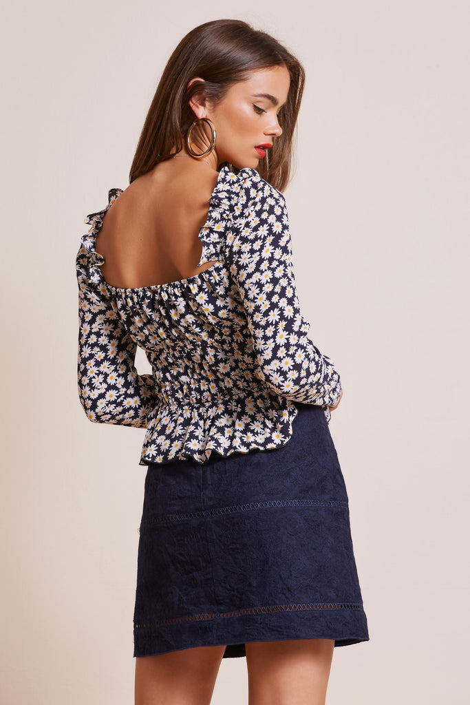 BLOOM TOP navy daisy