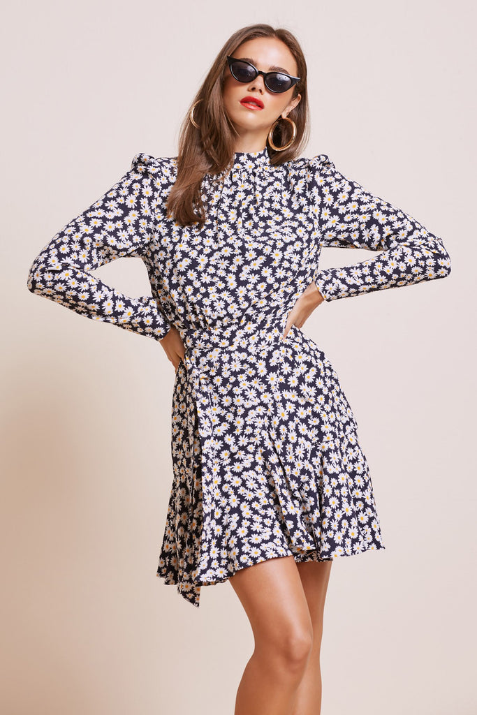BLOOM MINI DRESS navy daisy