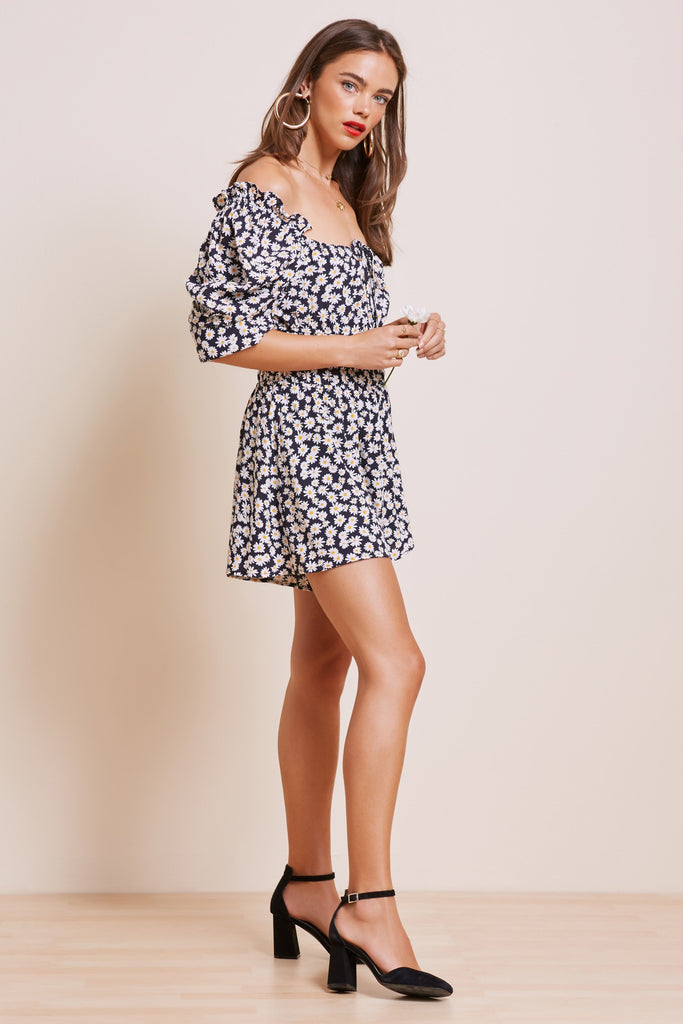 BLOOM PLAYSUIT navy daisy
