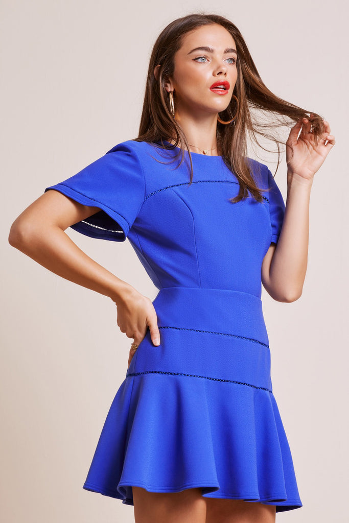 IMMORTAL MINI DRESS cobalt