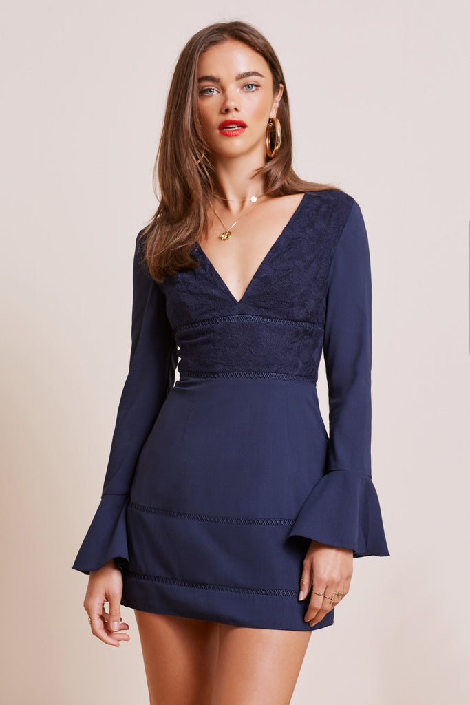 LUNAR MINI DRESS navy