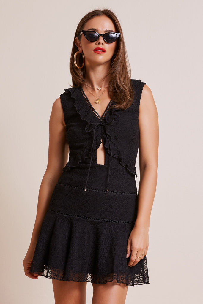 NIGHTLIGHTS DRESS black