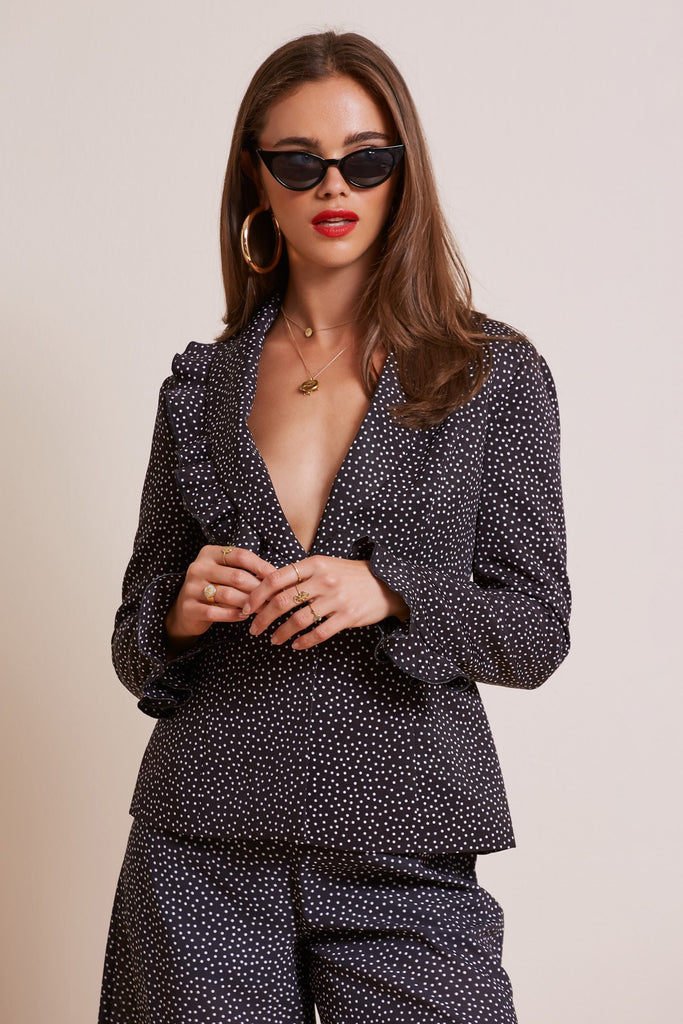 SOLAR JACKET black polka dot