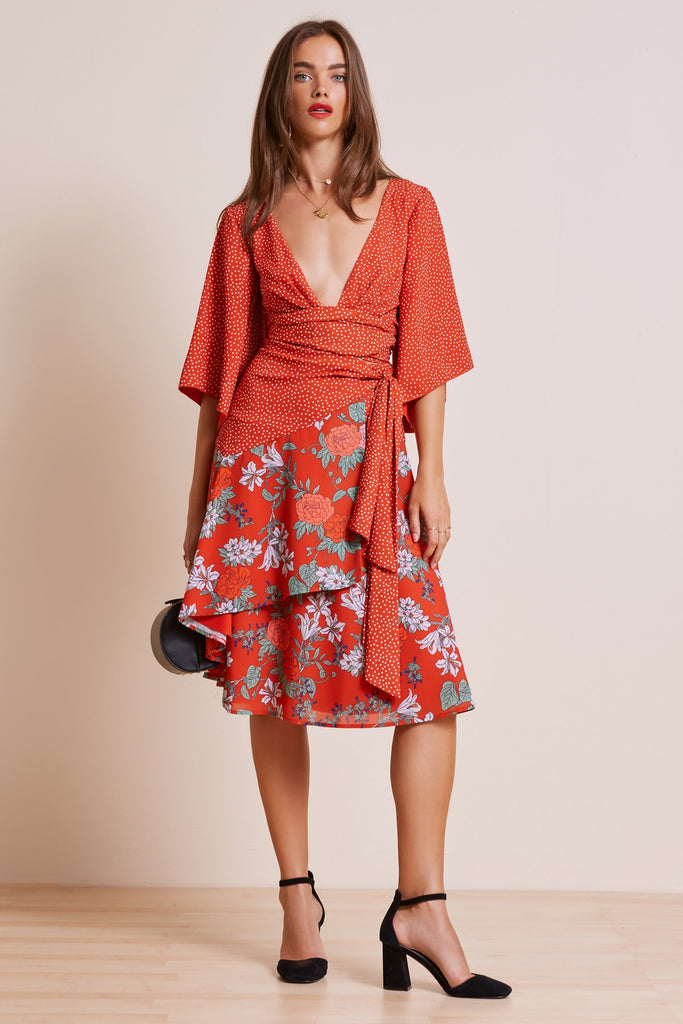 ASTRAL SKIRT red floral