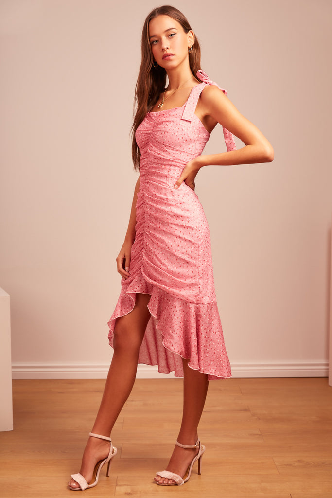 LOCALES DRESS pink speckle