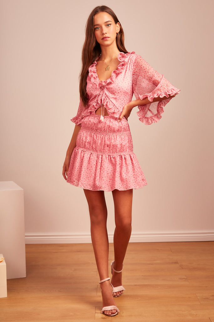 LOCALES MINI DRESS pink speckle