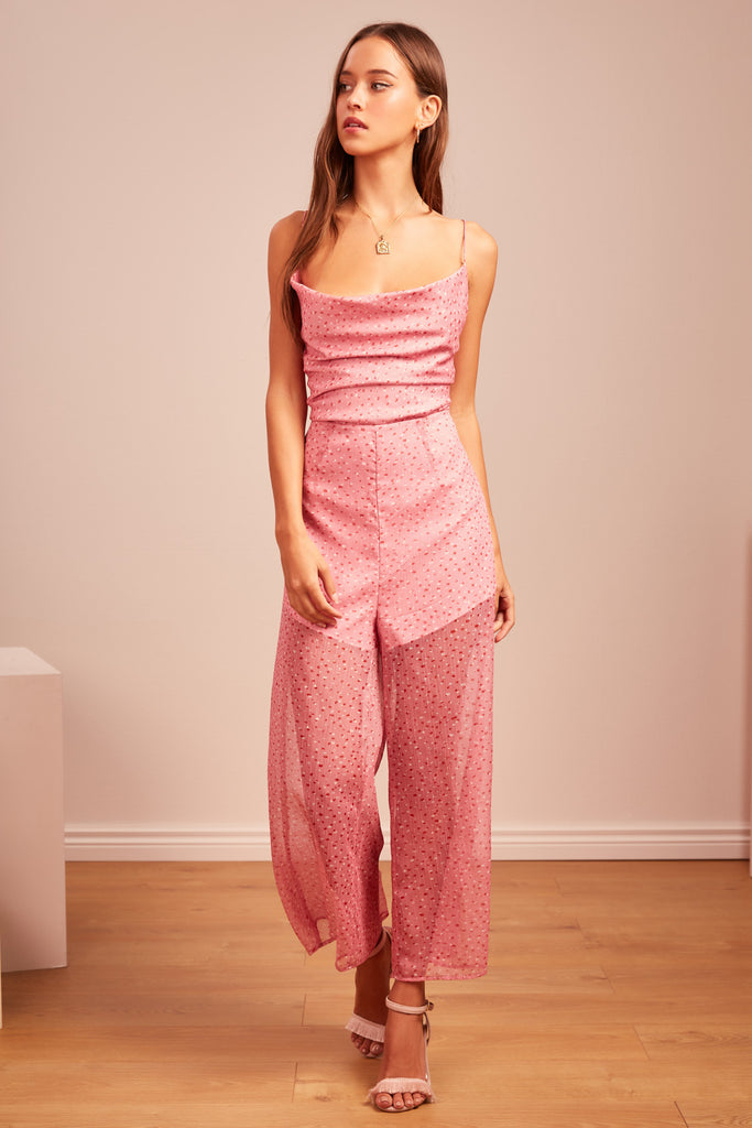 LOCALES PANTSUIT pink speckle