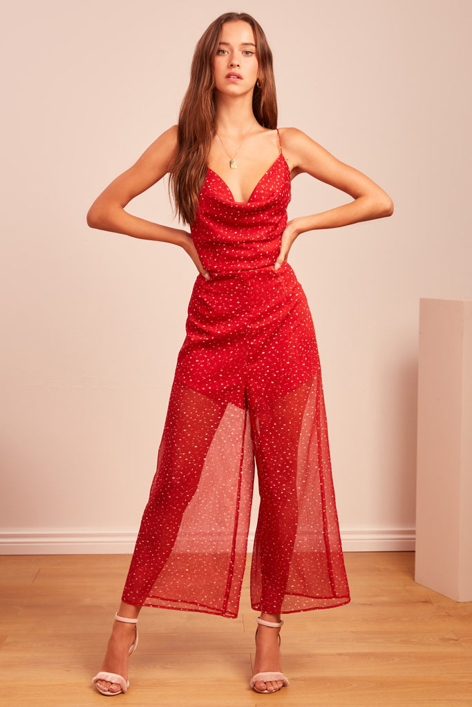 LOCALES PANTSUIT red speckle