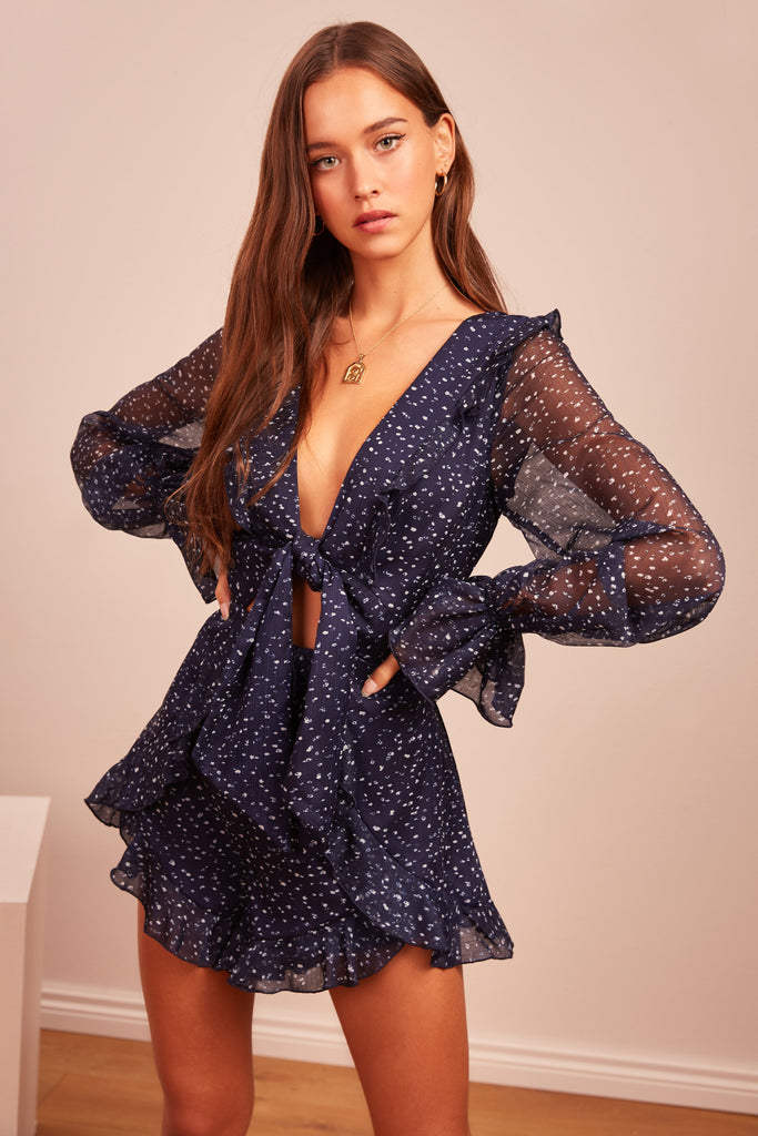 LOCALES PLAYSUIT navy speckle