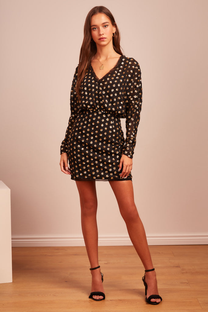 MOONLIGHT MINI DRESS black