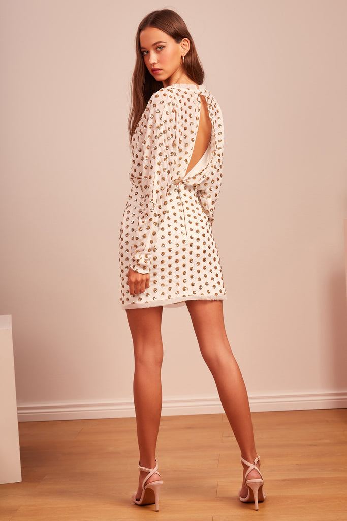 MOONLIGHT MINI DRESS ivory