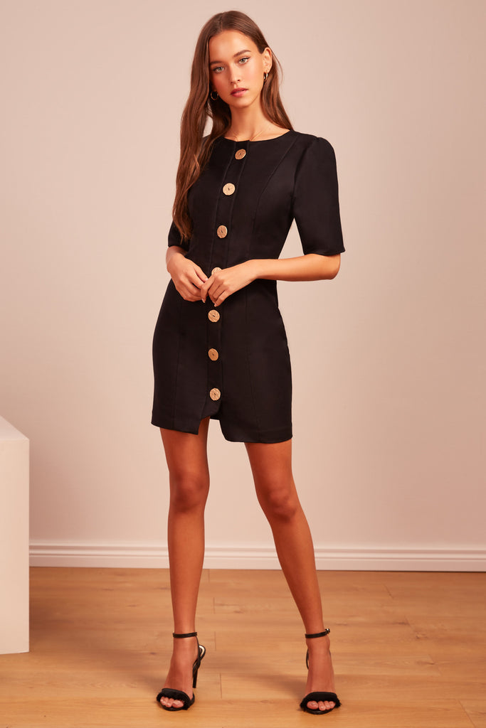POMPEII MINI DRESS black