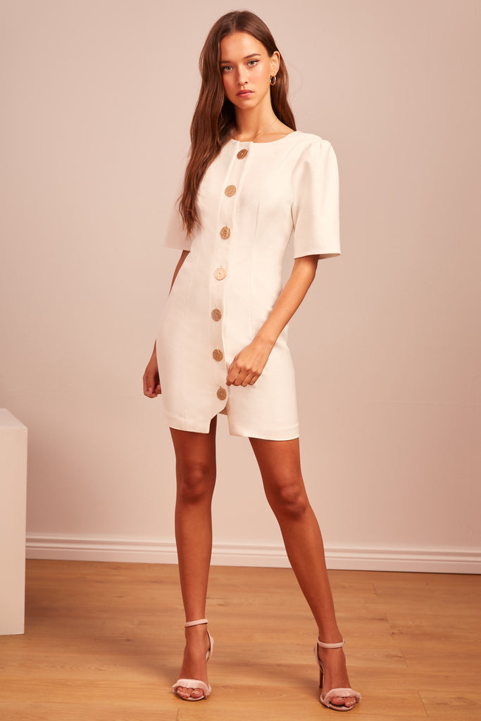 f42e7efc06b7 FINDERS KEEPERS | POMPEII MINI DRESS ivory – Finders Keepers | Australian  Womens Fashion Label