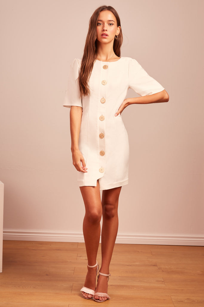 POMPEII MINI DRESS ivory