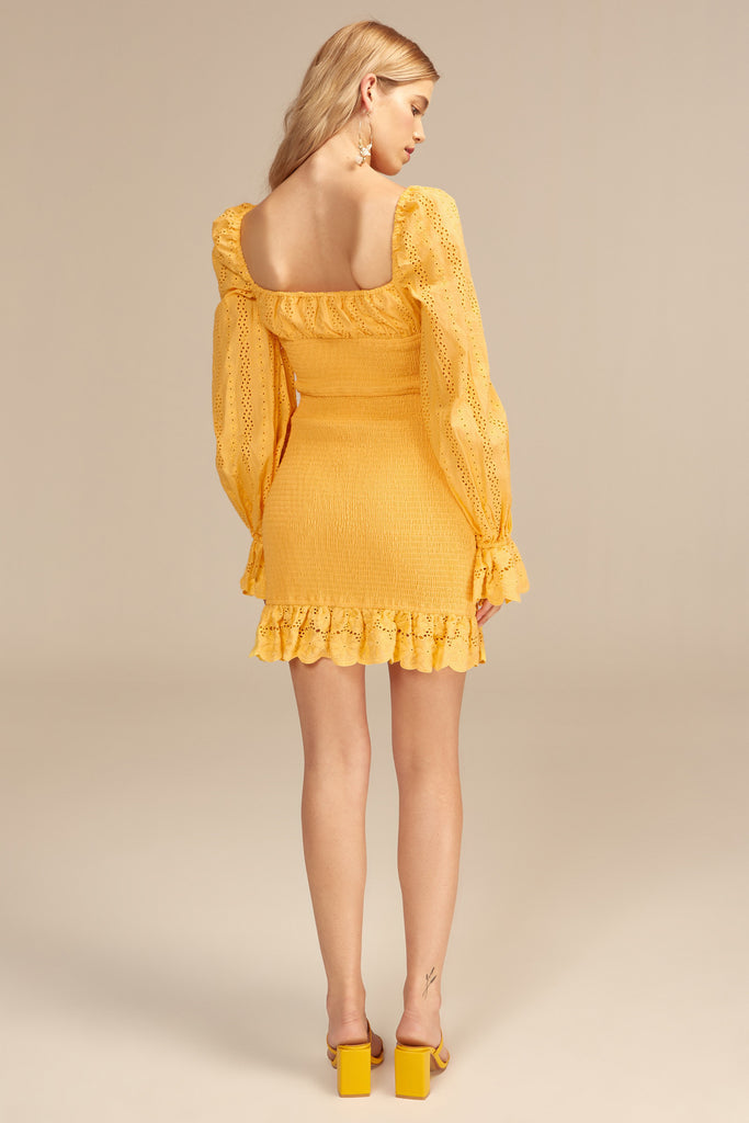 HONEYSUCKLE DRESS lemon