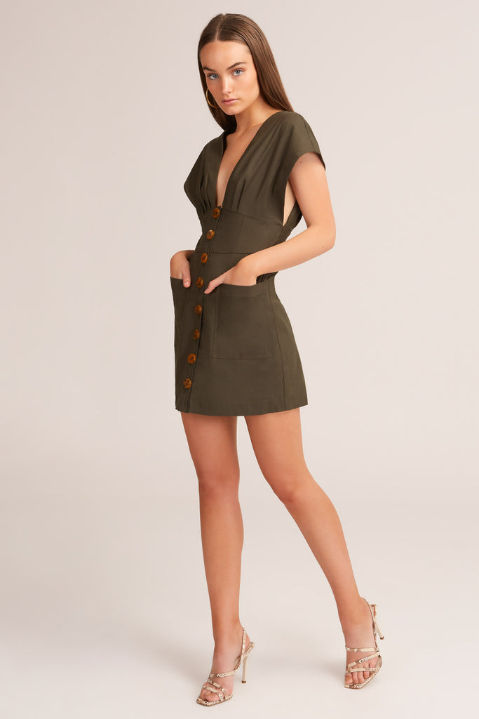 JADA MINI DRESS forest green