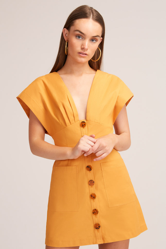 JADA MINI DRESS mustard