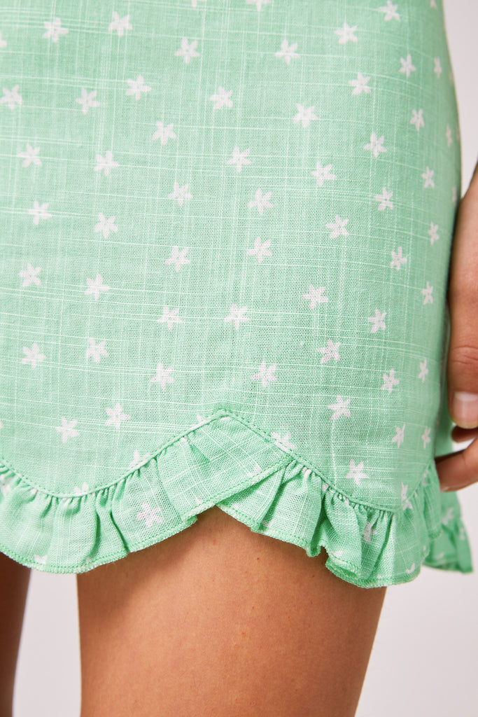 WILDFLOWER SKIRT mint ditsy