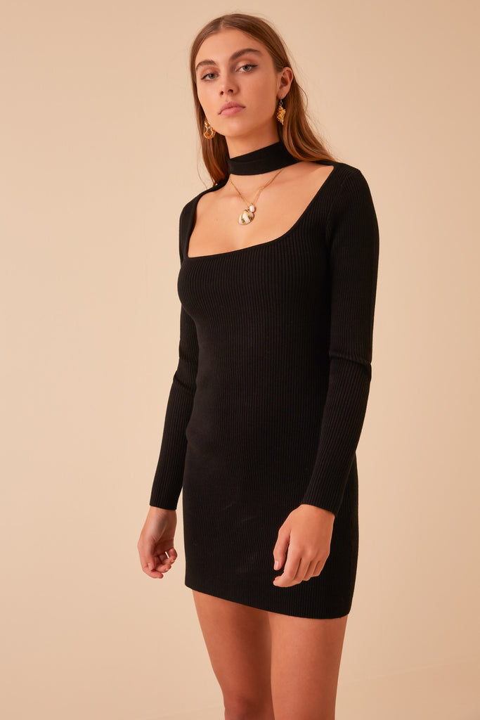 POMELO KNIT DRESS black