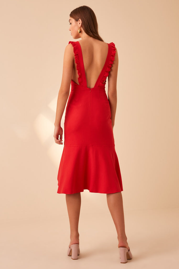 ARANCIATA DRESS red