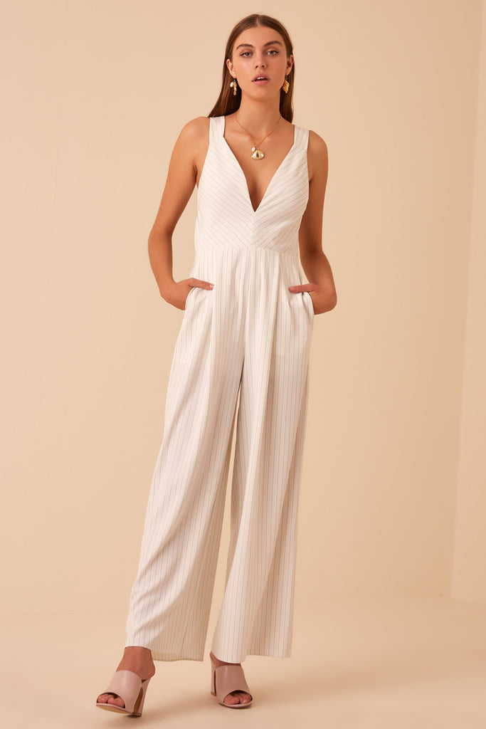 FLAMENCO JUMPSUIT ivory stripe