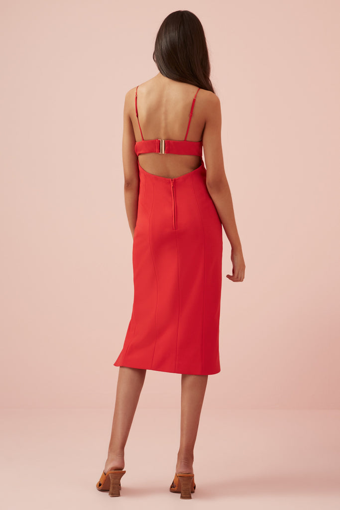 MAGDALENA DRESS red