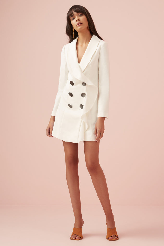 FRANCIS BLAZER DRESS ivory