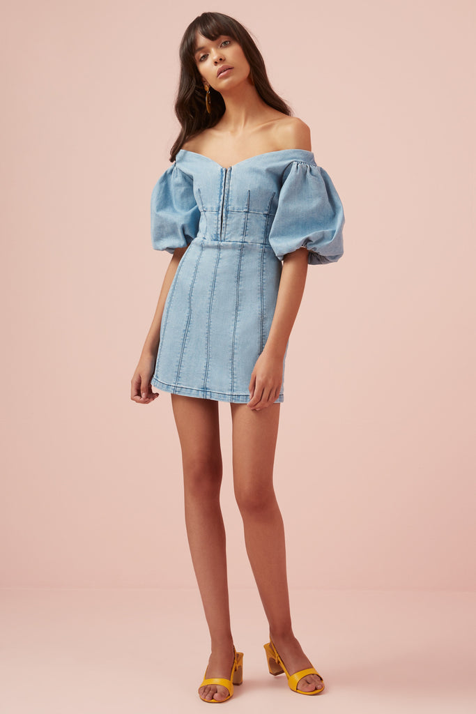 LEMONADE DRESS blue
