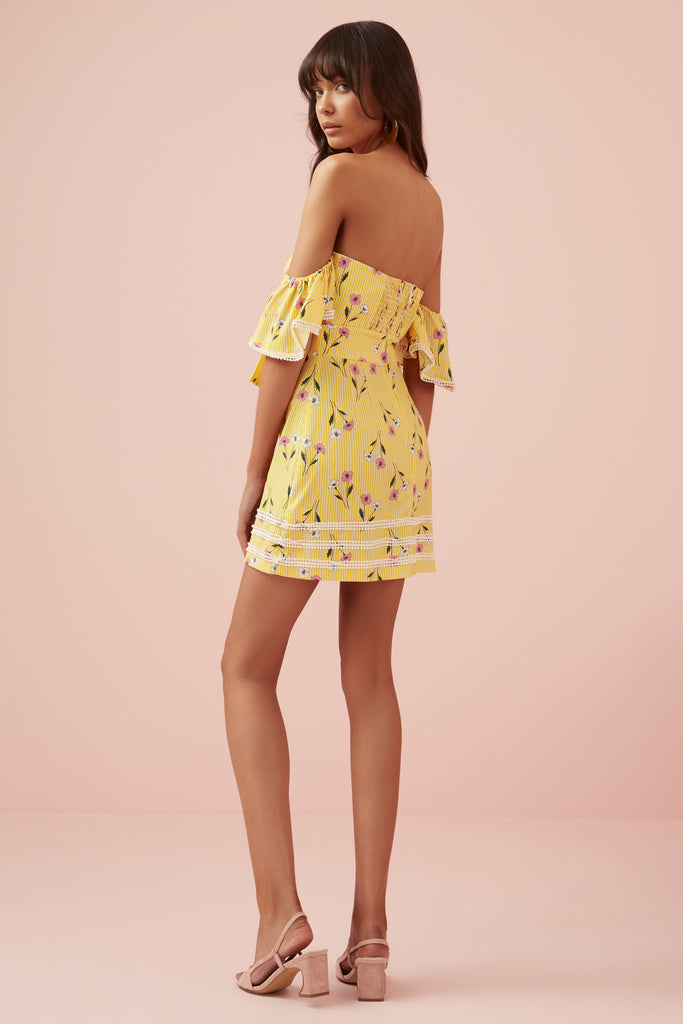 LIMONCELLO MINI DRESS yellow floral